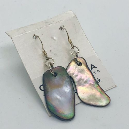 Earrings - Mother of Pearl Natural Small - WERE £14 ME02-NS